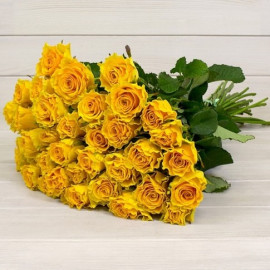 Yellow roses 40 cm (select number of roses in bouquet)